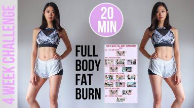 4-WEEK FULL BODY TRANSFORM WORKOUT PROGRAM   20 min Fat Burning HIIT #EmiTransform